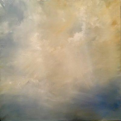 """Cayman Cloudscape 5, Oil on Linen, 30 x 30"""""""