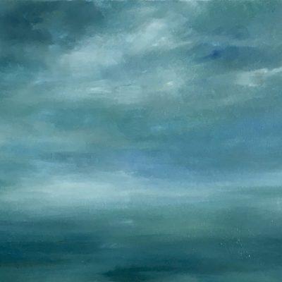 """Cayman Sky 15, Oil on Linen, 18' x 25"""""""
