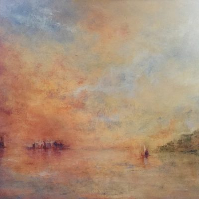 """Homage to Turner 3   Oil on Linen, 14' x 18"""" Private Collection"""