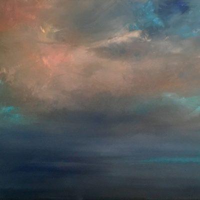 """Cayman Sky Study 2, Oil on Linen,  18"""" x 24"""""""