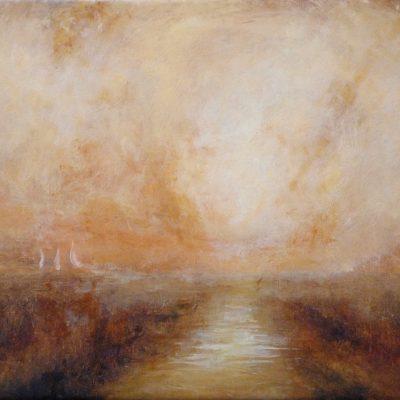 "Homage to Turner 2, Oil on Linen, 12 x 16"""
