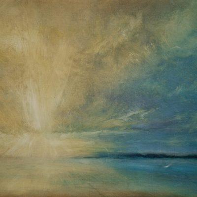 """Cayman Sunrise 3 Oil on Canvas12""""x17"""""""