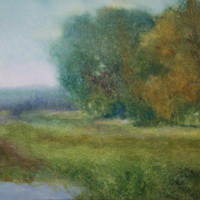 """Souvenir of Summer Montclair, Inness, Oil on Linen, 15"""" x 23"""""""