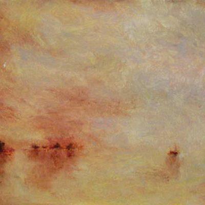 "Seascape: Homage to Turner 3, Oil on Linen, 16"" x 12"""