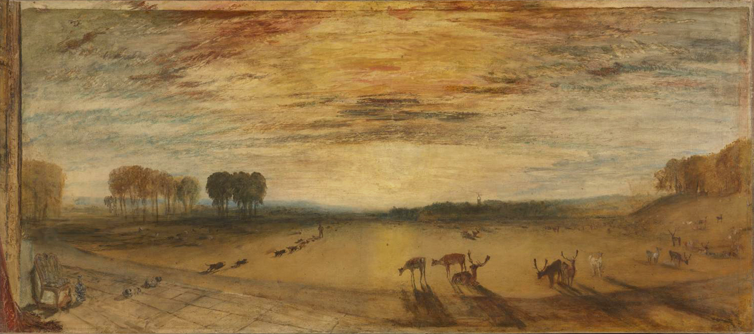 Petworth Park: Tillington Church in the Distance c.1828 by Joseph Mallord William Turner 1775-1851