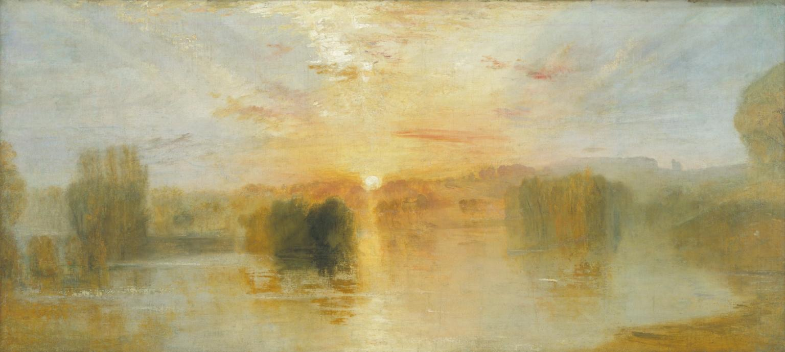 The Lake, Petworth, Sunset; Sample Study c.1827-8 Joseph Mallord William Turner 1775-1851 Accepted by the nation as part of the Turner Bequest 1856 http://www.tate.org.uk/art/work/N02701