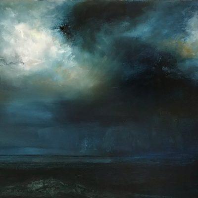 Storm Cayman 1 Oil on Canvas 18 x 24 October 2018
