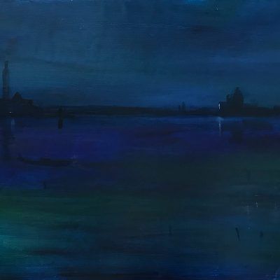 Venice Homage to Whistler Oil on Canvas 18 x 30 October 2018
