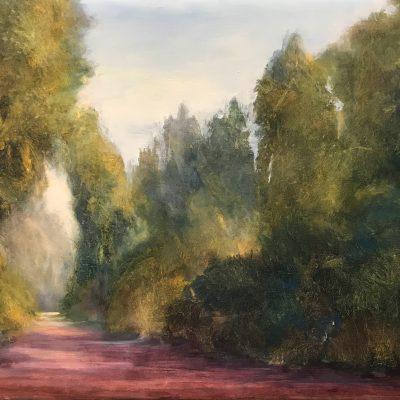 "Artimino Path, Oil on Linen, 8"" x 12"""
