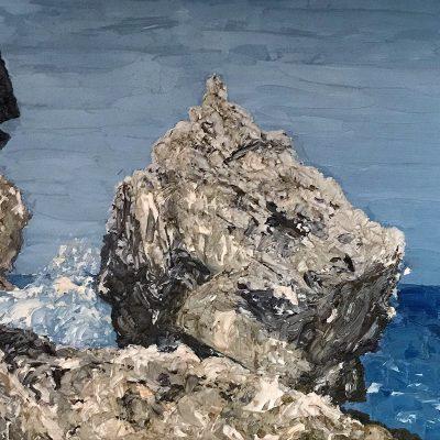 """Cayman Rock Sketch, Oil on Linen 6"""" x 8"""""""