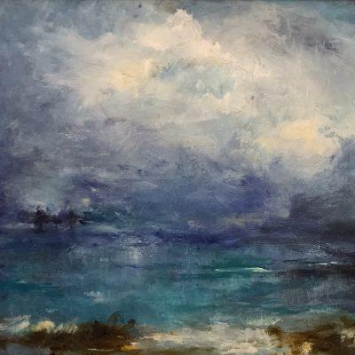 "Cayman Storm, Oil on Linen, 11"" x 13"""