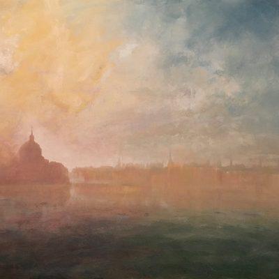 Homage To Turner - Venice, Oil on Panel, 24 x 36