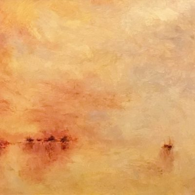 "Homage to Turner. Oil on Linen, 11"" x 17"""