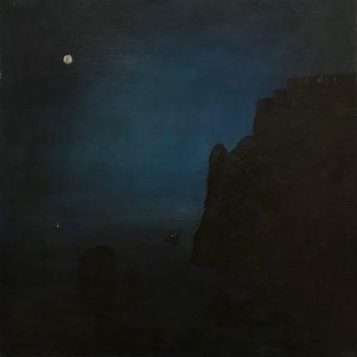 "Night in Croatia, Oil on Linen, 20"" x 20"""