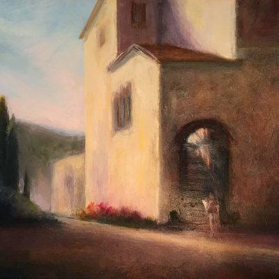 """Tuscan Morning Light, Oil on Linen,  11.5"""" x 17.75"""""""