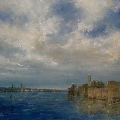 """Dreams of Venice 2, Oil on Board, 18"""" x 24"""""""