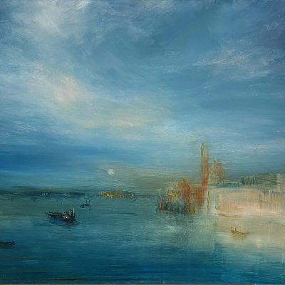 "Dreams of Venice Sketch 1, Oil on Board,  18""x 24"""